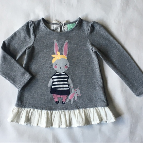My First Easter Bunny Black Bodysuit Pink Bling Sequins Girl Baby Dress NB-18M